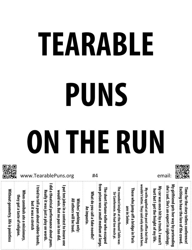 Posted in Posters | Permalink | Comments (0): www.tearablepuns.org/posters